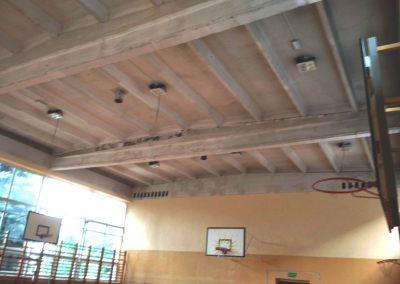 Montaż instalacji oświetleniowej oraz opraw na hali sportowej