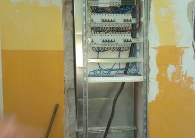 Montaż rozdzielni elektrycznej w szkole Podstawowej w Łęcznej